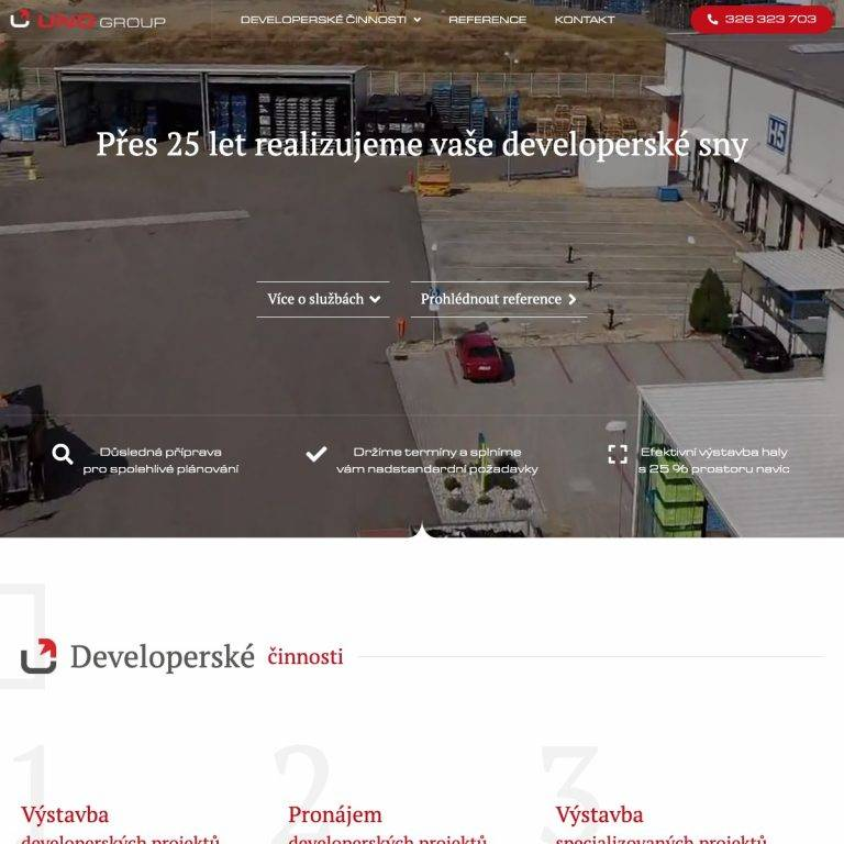 Tvorba webu Exclusive pro UNO Group s.r.o. - Mladá Boleslav | Netpromotion