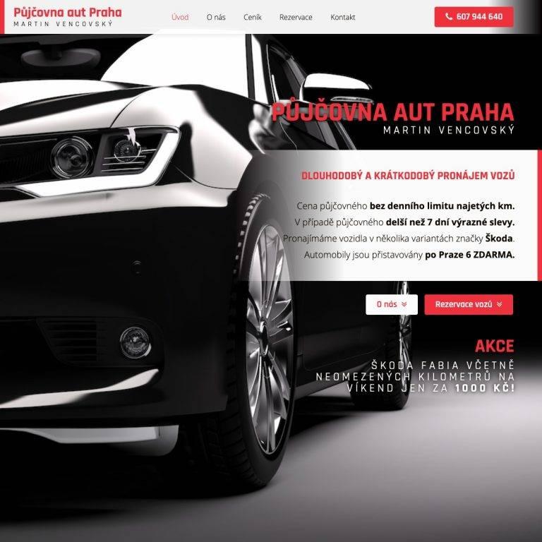 Tvorba webu Premium pro Autopůjčovna Vencovský - Praha | Netpromotion