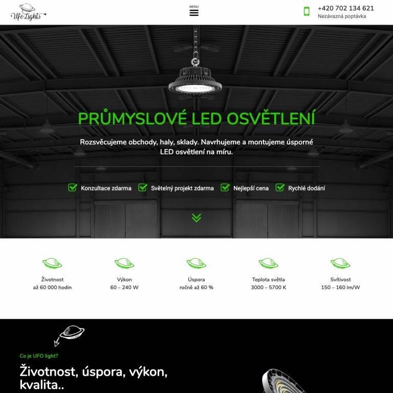 Tvorba webu Premium pro UFO Lights - Opava | Netpromotion